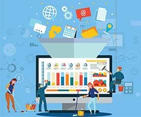 Regularizing data cleansing and monitoring of B2B databases