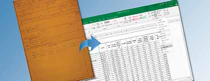 Document Data Entry of Handwritten Service Logs